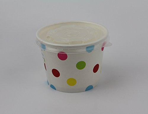 - 100 Count Deli Containers Durable Food Storage Containers with Lids Hot and Cold Disposable 12oz Containers Use for Frozen Desserts, Soups, or Any Food of Your Choice.