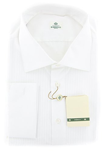 new-luigi-borrelli-white-solid-slim-shirt