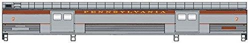 Baggage Car Streamlined - Budd Streamlined 73' Baggage Car Ready to Run -- Pennsylvania