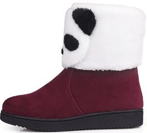Laruise Women's Snow Boots WineRed coLdwF
