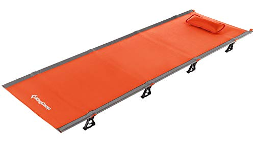 Mini Portable Go - KingCamp Ultralight Compact Folding Camping Cot Bed, 4.9 Pounds (Orange)