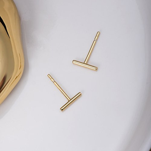 Minimalist-925-Sterling-Silver-Stud-Earrings-Gold-Bar-Earrings-Line-Earrings-Simplify-Stick-Earrings