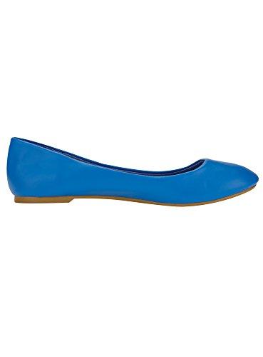 Ballerine 7500N in Basic Ultra Blu Ecopelle Donna oodji qw0UxERS