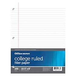 Office Depot(R) Brand Filler Paper, 8in. X 10 1/2in