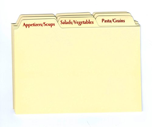Recipe Box Dividers - Recipe Card Box Tab Divider Set