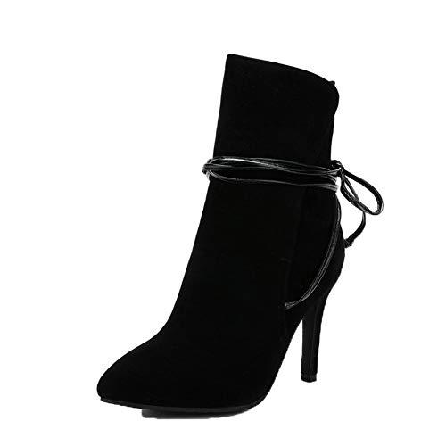 Stylet Duvet Xi Bottes Bas Shi Lacet Noir Femme Agoolar Gmbxb117356 Haut nIwxTqYf60