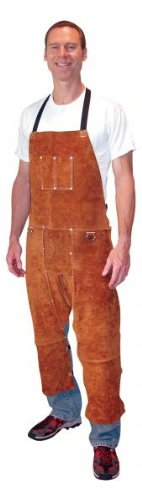 Tillman 3843 24'' W x 42'' L Leather Split Leg Bib Apron by Tillman