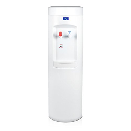 White BottleLess Water Purification Cooler with 1,500-Gallon capacity water filtration and installation kit. From BottleLess Direct (Model: BDX1-WK). Dispenses Hot & Cold water. (Also available in black) by BottleLess Direct
