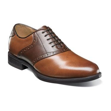 Florsheim Men's Midown Saddle Oxford - Cognac Multi (9.5 D)