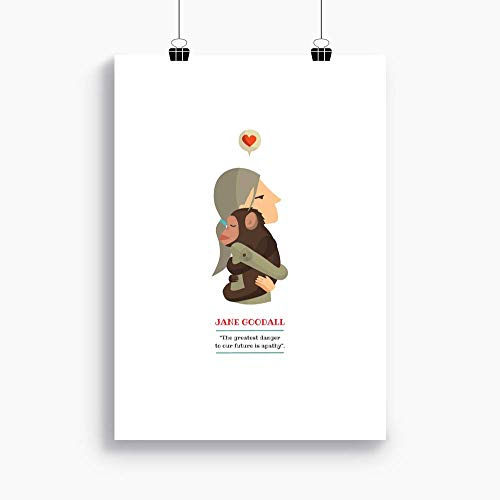 Print Jane Goodall Available In Two Sizes A4 A3 Included A Quote From Jane Goodall