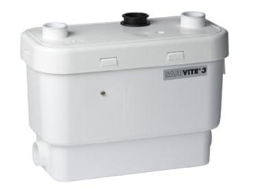 Saniflo 008 SANIVITE Gray Heavy Duty Water Pump, White