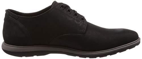 Chaussures Hommes Derby Clarks Gravel À Pour Pied Noir qYq8txR