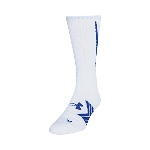 Under Armour Men's Undeniable All Sport Crew Socks , White/Royal, Large