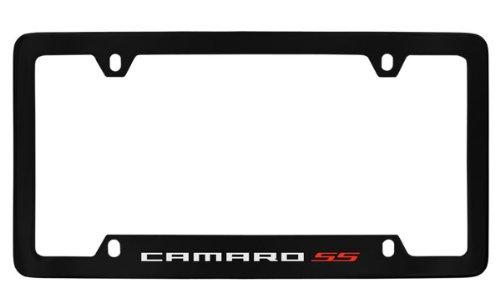 Chevrolet Camaro SS Black Coated Metal Bottom Engraved License Plate Frame Baronlfi