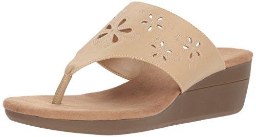 Aerosoles A2 Women's AIR Flow Wedge Sandal, Light tan, 7 M US