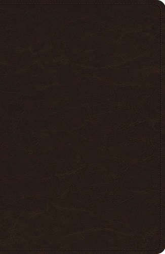 - ESV Heirloom Single Column Legacy Bible (Goatskin, Deep Brown)
