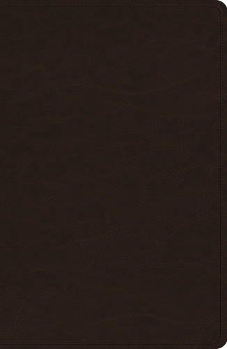 - ESV Heirloom Single Column Legacy Bible (Goatskin, Deep Brown)