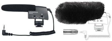 Sennheiser MKE400 Compact Shotgun Camera Mountable Microphone Bundle w/ MZW400 Windscreen
