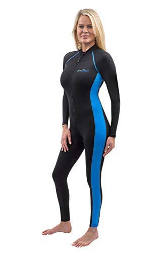 5a7acc91f57 Full Body Stinger Swimsuit UV Protection UPF50+ Chlorine Resistance Black  Blue (S)