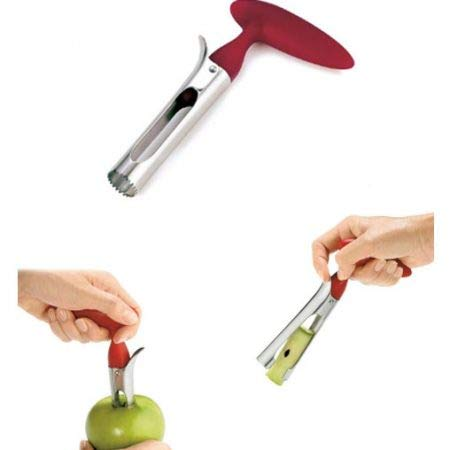 OLIZA Stainless Steel Kitchen Utensil & Gadget for Coring, Red Color