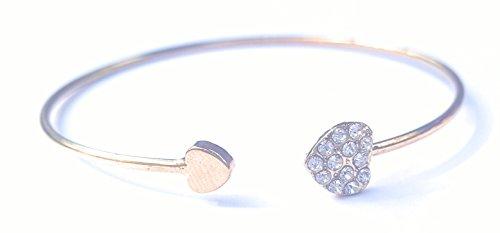 [New Chic Heart Cuff Rhinestone Bangle Bracelet Wrist Beautiful Sparkling Shiny Girl Lady Costume] (France Costume For Girls)