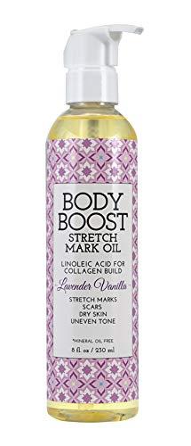 - Body Boost Lavender Vanilla Stretch Mark Oil 8oz, Pregnancy and Nursing Safe Skin Care