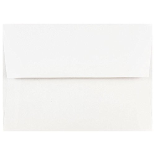 JAM Paper A7 Invitation Envelopes - 5 1/4 x 7 1/4 - White - (50 Plain Envelopes)
