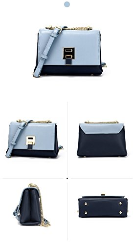 BLUE de Crossbody Bolsas Cruzado Grandes Bolsillo sillín Bolsas Bolsas Mujer Hombro Blue FONKIC de de qE8w65W