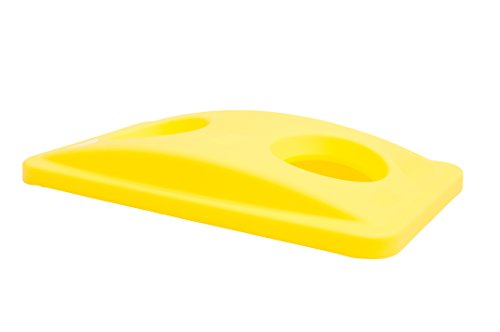 Rubbermaid Commercial Products FG269288YEL Recycling Bottle/Can Lid Slim Jim Container, Yellow