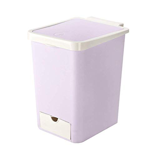 LTDCAN Creative Trash can, PP Material, Automatic Replacement of Trash can, Suitable for Bedroom/Kitchen \ Living Room \ Aisle \ Bathroom \ Hotel \ Club, - Cymbal Garbage