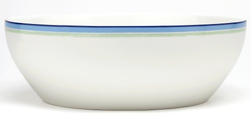 (Noritake Java Blue Swirl Round Vegetable Bowl, 9-3/4-inches, 96-ounces)