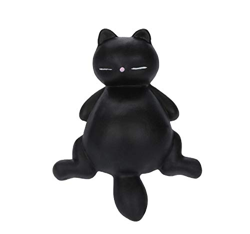 Vertily Stress Animals Mochi Lazy Cat Kitty Squeeze Healing Fun Kawaii Stress Reliever Toys Gifts Stress Relieve Squeeze Soft Lovely Toy Kids Gift Fidget Toys for Kids - Cafe Kitty Cat