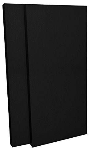 "GeerFab Acoustics RoomZorbers PZ48BLACK2 ProZorber 24x48 2"" Thick Single Acoustical Treatment Panel, Black"