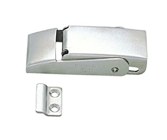 """Stainless Steel 304 Spring Loaded Draw Latch, Satin Finish, Non Locking, 3 5/32"""" Length (Pack of 1)"""