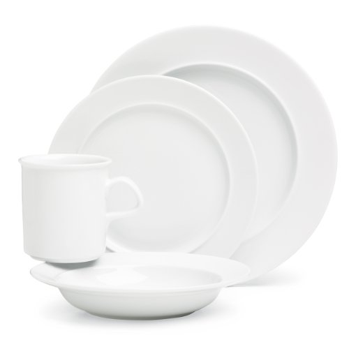 Dansk Cafe Blanc 4 Piece Place - Dansk Safe Mug Dishwasher