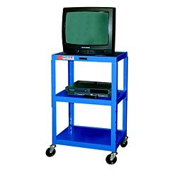 H WILSON W42ABUE Metal Utility Cart-Height Adjustable, Blue by H Wilson