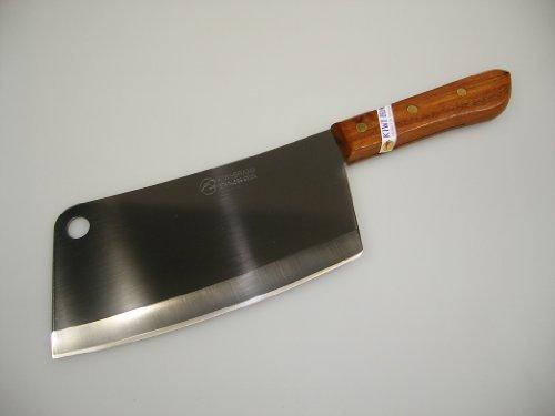 Thai Edelstahl Hackmesser 34,5 cm für Fleisch