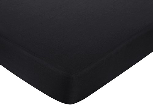 Sweet Jojo Designs Black and White Isabella Fitted Crib Sheet for Baby/Toddler Bedding Sets - - Black