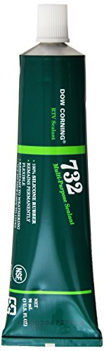 Dow Corning Adhesive - Dow Corning 3138356 732 Clear Multi-Purpose Sealant, -60 to 180 Degree C, 90 mL