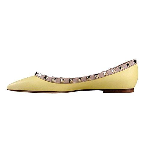 EKS - bailarinas Mujer Amarillo - Gelb-Matte