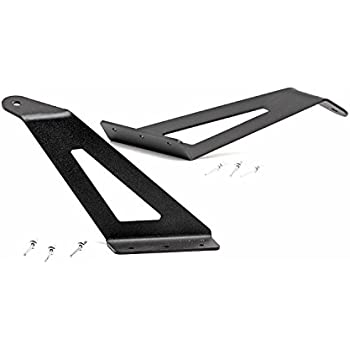 Rough Country - 70516 - 54-inch Curved LED Light Bar Upper Windshield Mounting Brackets (Ford Super Duty) for Ford: 00-05 Excursion 4WD/2WD, 99-16 F250 Super Duty 4WD/2WD, 99-16 F350 Super Duty 4WD...