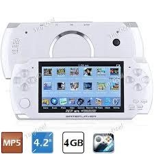 Portable MP5 Player Game Console with 4GB Camera FM(White) (Mp5 Game Console)