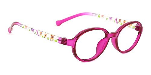 TIJN Kids Oval Clear Optical Eyeglasses Frames for Boys Girls