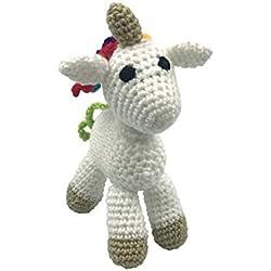 Darn Good Yarn Craft Amigurumi Knit and Crochet Kit | DIY Knitting Kit - Stuffed Unicorn Fun Crochet Kit | DIY Crochet Kit Includes Crochet Yarn, Hook, and Needles | 3 Piece Set
