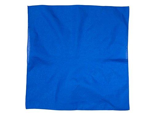(New Solid Color Cotton Bandanas - (5 Different Colors), Royal Blue)