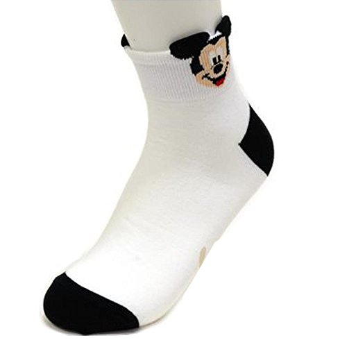 Girl s 4pk Ankle Socks Winnie-the-Pooh Piglet Mickey Mouse Minnie Mouse  Disney Character a0e89cab81