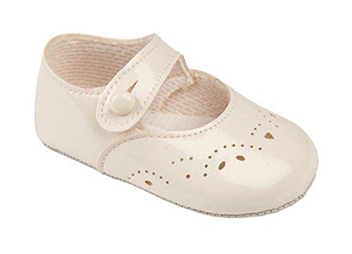 Baypods , Baby Mädchen Lauflernschuhe weiß weiß UK 1 (EU, 17) elfenbeinfarben