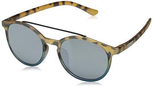 Suncloud Belmont Polarized Sunglasses, Matte Tortoise Blue Fade, Silver Mirror