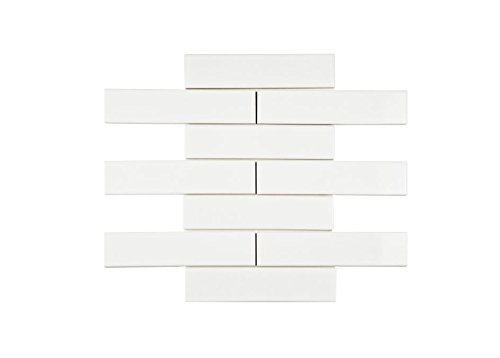 White Porcelain Subway Tile Gloss Finish 2 X 8 12 Box