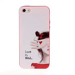conseguir El amor es ciego del patrón TPU del gel suave de la contraportada del caso del capítulo de color rojo para el iphone 5/5s